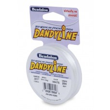 Dandyline 0.15mm Diameter Thread in White, 25m reel