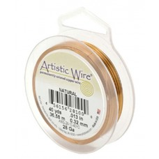 Beadalon 28ga Artistic Wire, Natural, 40YD