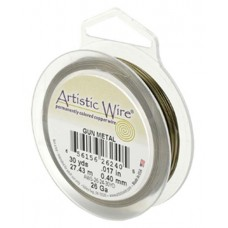 Beadalon 28ga Artistic Wire, Gun Metal / Antique Brass, 40YD