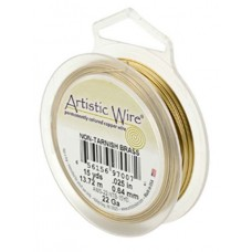 Beadalon 28ga Artistic Wire, Non-Tarnish Brass, 40YD