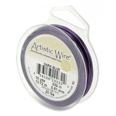 Beadalon 30ga Artistic Wire, Dark Blue, 50YD