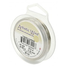 Beadalon 30ga Artistic Wire, Tinned Copper, 50YD
