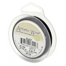 Black 34ga Artistic Wire 125YD