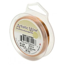 Bare Copper 34ga Artistic Wire, 125YD