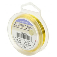 Lemon Silver Plated 26ga Artistic Wire, 30YD (27.4m)