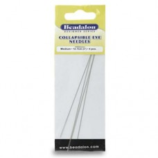 Beadalon 700M-150 Collapsible Eye Needles, 5 Inch, Medium, 4 Pack