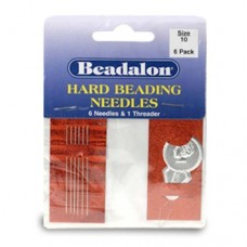 Size 10 Hard Beading Needles,  2.12 Inch, 6 Pack from Beadalon