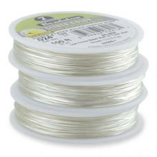 100 foot Silver Colour 7 Strand Beadalon Beading Wire  0.012