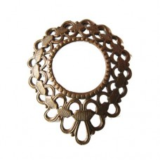 38 x 47mm Chaplet Component, Rustic Sable Finish