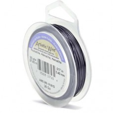 Hematite Silver Plated 26ga Artistic Wire, 30YD (27.4m)