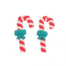 Fimo Candy Cane Beads, Pack of 2