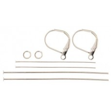 Finding Kit, Silver Lever Back, 1 Set
