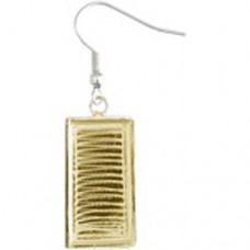 Bezel Handmade Earring Rectangle 21x11x2mm, 24901005-03