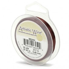 Beadalon 30ga Artistic Wire, Brown, 50YD