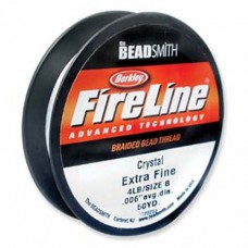 Fireline Thread, 2lb Crystal Clear 50yd 0.003