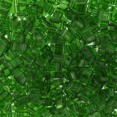 Light Emerald Transparent Half Tila Beads, colour 0146, 5.2gm approx.