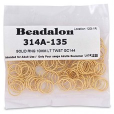 Beadalon 10mm Twisted Solid Rings 144 pcs Gold Plated