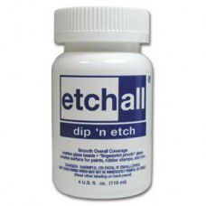 Dip 'n Etch  Glass Matting solution 4 fl.oz. 108ml