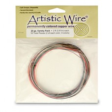 20ga variety pack of permanently coloured copper wire