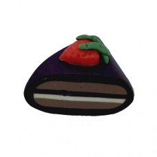 Fimo Chocolate Cake Slice Bead, 14x16mm