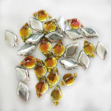 Tequila Backlit Gemduo Beads, Pack of 34