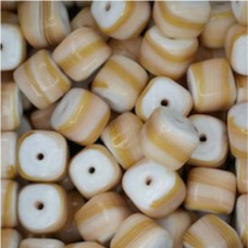 Glazed 9mm Cubes, Tan, Wholesale Bag, Approx 250gr.