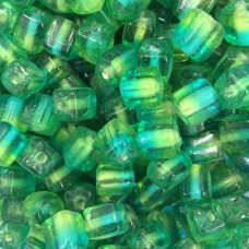 Green Two Tone Glass Cubes, 250gr Bag