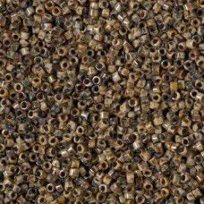 Opaque Brown Picasso, Size 10/0 Delica, Colour code 2267  - Approx. 5.2g