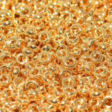24kt Gold Plated Miyuki 2.2mm Spacer Beads, colour 0191, approx 4.9g