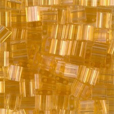 Tila Beads Light Amber Transparent 5.2gm tubes - 0132