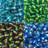 Two Tone Glass Beads