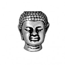 Tierracast 13.5mm Antique Silver Buddha Bead with Large Hole, 1 Pc