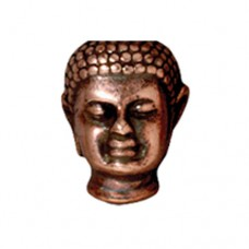 Tierracast 13.5mm Antique Copper Buddha Bead with Large Hole, 1 Pc
