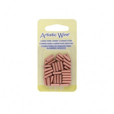 Large Wire Crimp Tubes,10mm, Bare Copper, for 12 ga Wire, Pack of 55