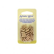Large Wire Crimp Tubes,10mm, Brass, for 12,14,16 ga wire