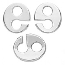 Global Chic Oval Slider  Clasp 28 x 25mm Rhodium Plated. Pack of 3
