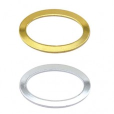 Beadalon Solid Ring, Flat Oval, Gold, 12 x 18 mm, 12 Pieces