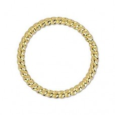 Beadalon 314A-103 6mm Twisted Solid Rings, Gold, 16 Pcs
