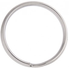 25mm Nickel Colour Split Rings, Pack of 10pcs