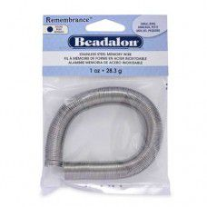 Small Ring  Remembrance Memory Wire,  Bright, 1oz pack