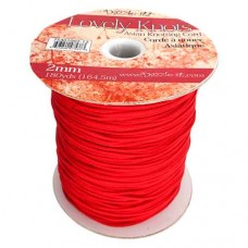 2mm Knotting Cord - 164m Reel, Red