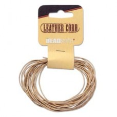 Genuine Leather Cord 0.5mm Round Natural 5yds