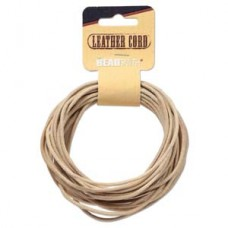 Genuine Leather Cord  2mm Round Natural 5yds