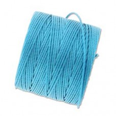 Bermuda Blue S-Lon 0.5mm Bead Cord on 77 yard Spool