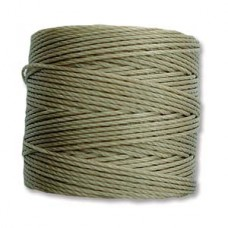 Khaki S-Lon 0.5mm Bead Cord on 77 yard Spool