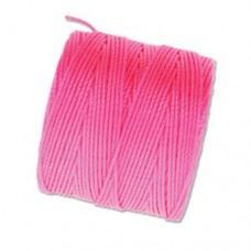 Neon Pink S-Lon 0.5mm Bead Cord, 77  Yard Spool