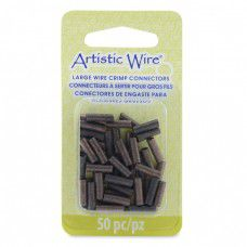 Large Wire Crimp Tubes,10mm, Antique Copper, for 12 ga wire, 50pc